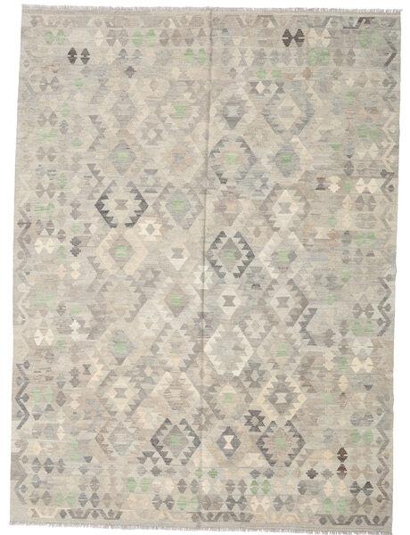 キリム アフガン オールド スタイル 絨毯 207X280 オリエンタル 手織り 薄い灰色 (ウール, アフガニスタン)