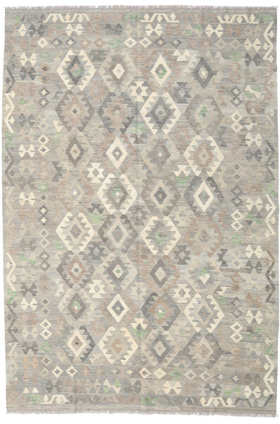 Kilim Afghan Old Style Rug 199X292 Authentic  Oriental Handwoven Light Grey (Wool, Afghanistan)