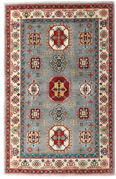 Kazak Rug 99X150 Authentic  Oriental Handknotted Dark Red/Light Grey (Wool, Pakistan)