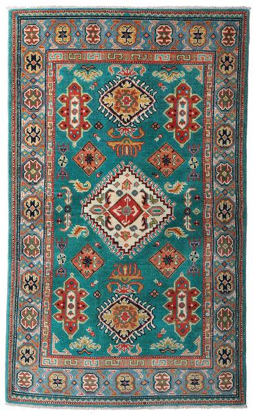 カザック 絨毯 95X161 オリエンタル 手織り ターコイズ/深紅色の (ウール, パキスタン)