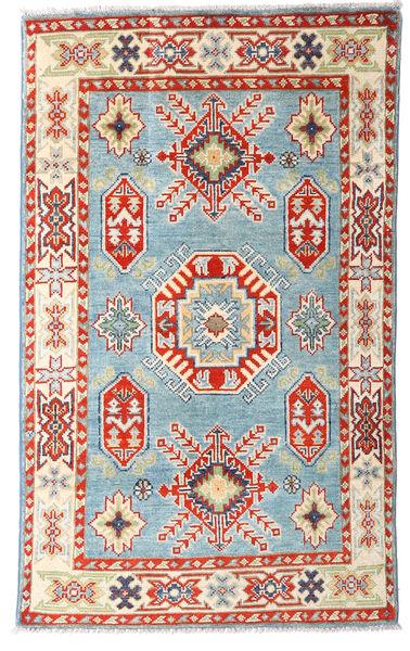 カザック 絨毯 77X128 オリエンタル 手織り ベージュ/水色 (ウール, パキスタン)