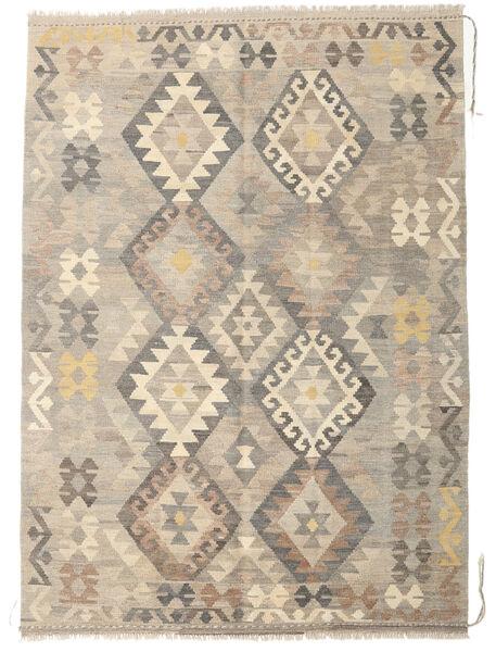 Kilim Afghan Old Style Rug 145X201 Authentic  Oriental Handwoven Light Grey/Beige (Wool, Afghanistan)