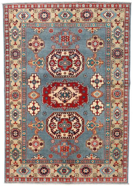 カザック 絨毯 141X207 オリエンタル 手織り 濃い茶色/暗めのベージュ色の (ウール, パキスタン)