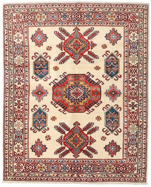 カザック 絨毯 156X194 オリエンタル 手織り ベージュ/深紅色の (ウール, パキスタン)
