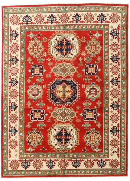 Kazak Rug 148X203 Authentic  Oriental Handknotted Rust Red/Olive Green (Wool, Pakistan)