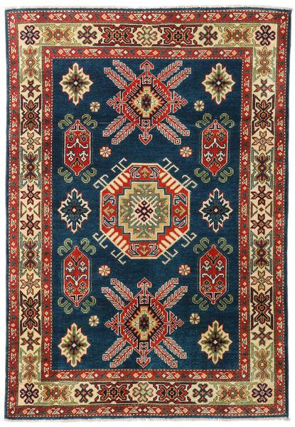Kazak Dywan 126X184 Orientalny Tkany Ręcznie Ciemnoniebieski/Ciemnoczerwony (Wełna, Pakistan)