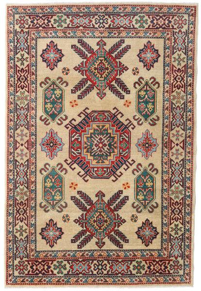 カザック 絨毯 122X182 オリエンタル 手織り 暗めのベージュ色の/深紅色の (ウール, パキスタン)