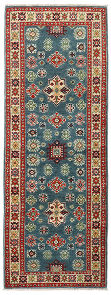 Kazak Rug 64X175 Authentic  Oriental Handknotted Hallway Runner  Dark Red/Dark Grey (Wool, Pakistan)