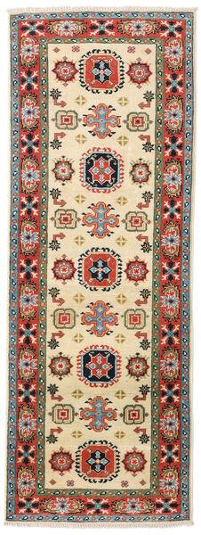 Kazak Rug 63X176 Authentic  Oriental Handknotted Hallway Runner  Beige/Olive Green (Wool, Pakistan)