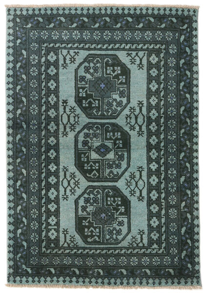 アフガン 絨毯 101X147 オリエンタル 手織り 深緑色の/濃いグレー (ウール, アフガニスタン)