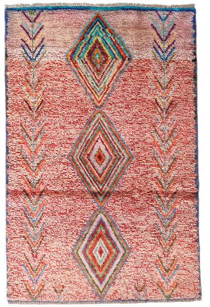 Moroccan Berber - Afghanistan 絨毯 86X132 モダン 手織り 深紅色の/ベージュ (ウール, アフガニスタン)