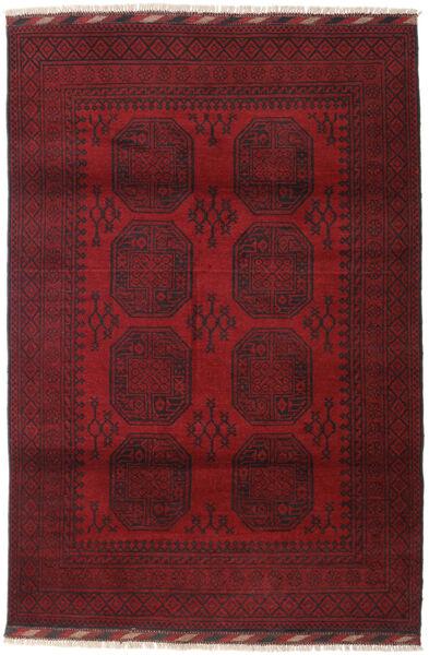 Afghan Teppe 121X180 Ekte Orientalsk Håndknyttet Mørk Rød/Mørk Brun (Ull, Afghanistan)