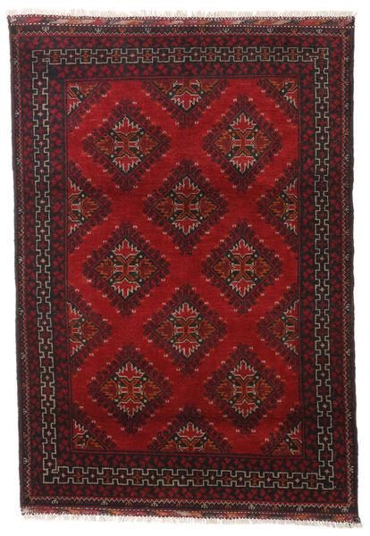 アフガン 絨毯 119X172 オリエンタル 手織り 深紅色の/黒 (ウール, アフガニスタン)