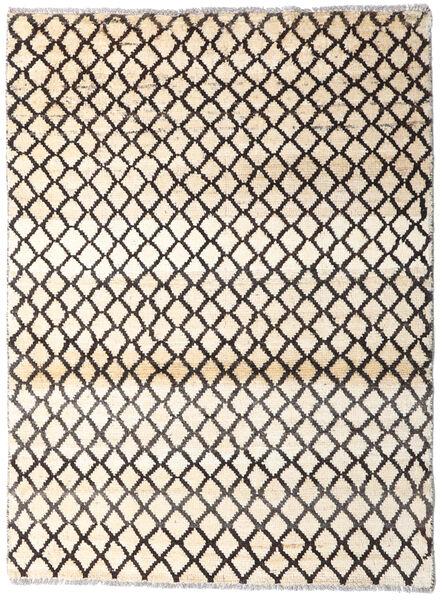 Moroccan Berber - Afghanistan 絨毯 94X127 モダン 手織り ベージュ/濃い茶色 (ウール, アフガニスタン)