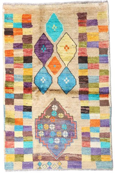 Moroccan Berber - Afghanistan 絨毯 88X135 モダン 手織り ベージュ/暗めのベージュ色の (ウール, アフガニスタン)