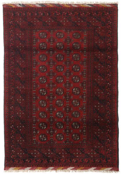 Afghan Rug 122X173 Authentic  Oriental Handknotted Dark Red/Dark Brown (Wool, Afghanistan)