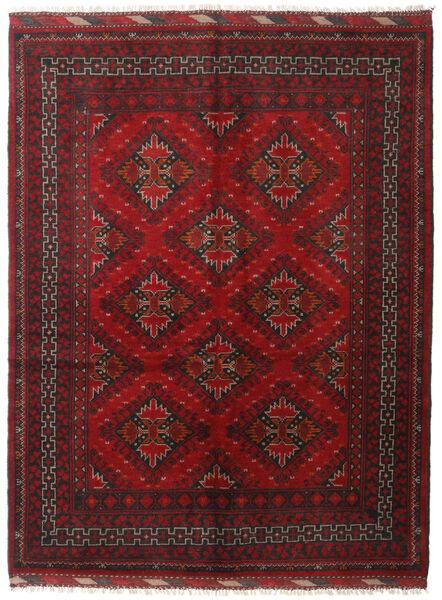 Afghan Rug 153X199 Authentic  Oriental Handknotted Dark Red/Dark Brown (Wool, Afghanistan)