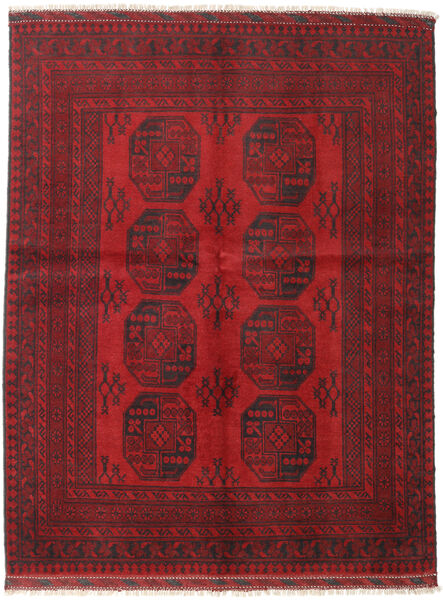 Afghan Teppe 152X197 Ekte Orientalsk Håndknyttet Mørk Rød/Mørk Brun (Ull, Afghanistan)