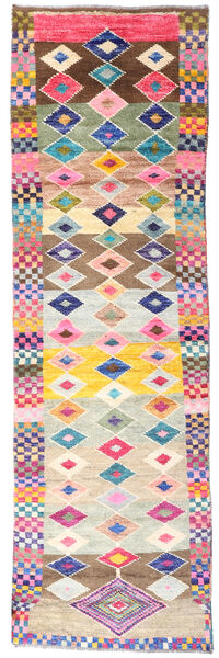Moroccan Berber - Afghanistan Rug 67X227 Authentic  Modern Handknotted Hallway Runner  Beige/Light Pink (Wool, Afghanistan)