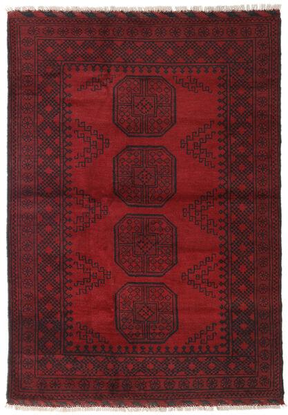 Afghan Rug 123X173 Authentic  Oriental Handknotted Dark Red/Dark Brown (Wool, Afghanistan)