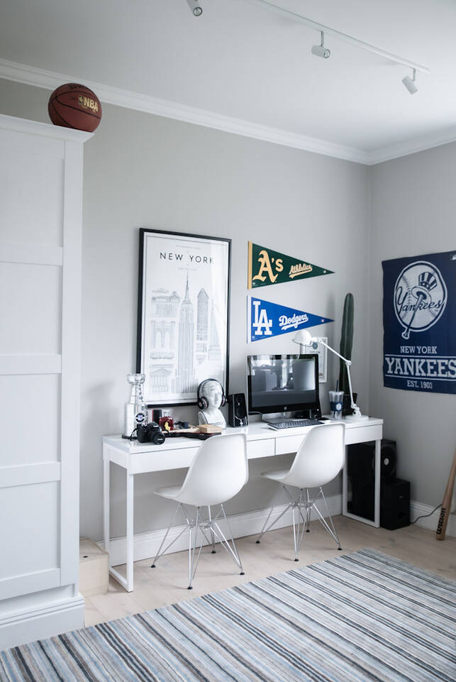 Svart / grå handloom - Matta i kontor.