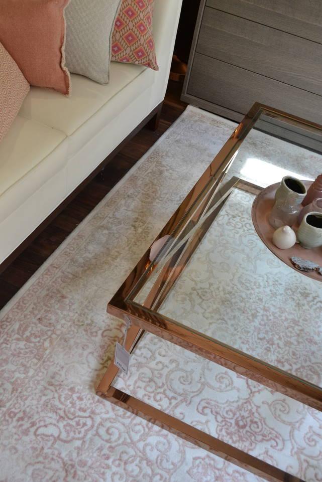 Valkoinen  soho anatolian akryl - matto olohuone.