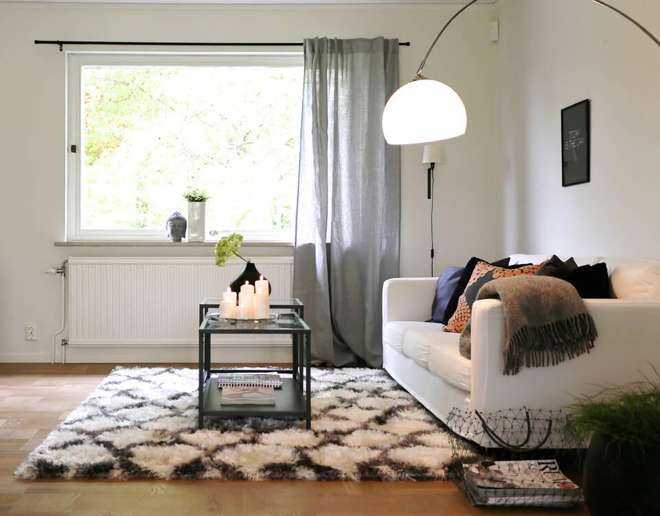 Bílý, , berber shaggy venesia koberec vobývací pokoj.