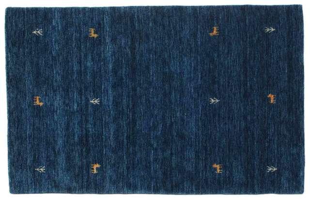 Gabbeh Loom Two Lines Ciemnoniebieski 100x160