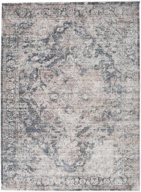 Handloom gabbeh 170x240 cm gris tejida alfombra 100/% lana