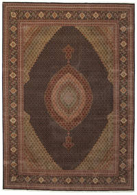 Tabriz 50 Raj Teppe 350X505 Ekte Orientalsk Håndknyttet Brun/Mørk Brun/Mørk Rød Stort (Ull/Silke, Persia/Iran)