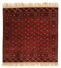 Bokhara/Yamut Rug 199X201 Authentic  Oriental Handknotted Square Dark Brown/Dark Red (Wool, Turkmenistan/Russia)