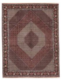 Bidjar Sherkat Farsh Matta 301X396 Äkta Orientalisk Handknuten Mörkröd/Ljusgrå Stor (Ull, Persien/Iran)