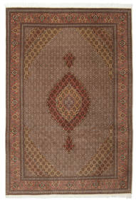 Tabriz 50 Raj With Silk Rug 200X301 Authentic  Oriental Handknotted Light Brown/Brown (Wool/Silk, Persia/Iran)