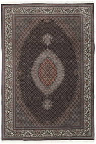 Tabriz 50 Raj With Silk Rug 202X304 Authentic Oriental Handknotted Dark Brown/Light Brown (Wool/Silk, Persia/Iran)