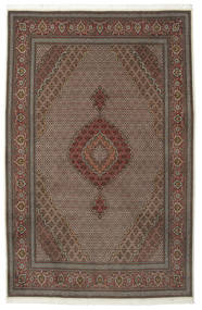 Tabriz 50 Raj With Silk Rug 205X315 Authentic  Oriental Handknotted Light Brown/Dark Brown/Dark Grey (Wool/Silk, Persia/Iran)