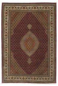 Tabriz 50 Raj Silkillä Matto 207X304 Itämainen Käsinsolmittu Vaaleanruskea/Ruskea/Tummanruskea (Villa/Silkki, Persia/Iran)
