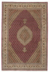 Tabriz 50 Raj With Silk Rug 200X308 Authentic  Oriental Handknotted Light Brown/Brown (Wool/Silk, Persia/Iran)