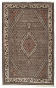 Tebriz 50 Raj Z Dodatkiem Jedwabiu Dywan 205X325 Orientalny Tkany Ręcznie Ciemnobrązowy/Jasnoszary (Wełna/Jedwab, Persja/Iran)