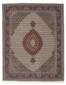Tabriz 50 Raj Med Silke Teppe 203X258 Ekte Orientalsk Håndknyttet Lysbrun/Mørk Brun (Ull/Silke, Persia/Iran)