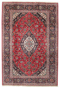 Keshan Rug 203X300 Authentic  Oriental Handknotted Dark Brown/Dark Red (Wool, Persia/Iran)
