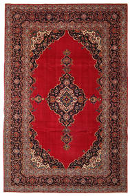 Keszan Patina Dywan 240X374 Orientalny Tkany Ręcznie Ciemnoczerwony/Ciemnobrązowy (Wełna, Persja/Iran)