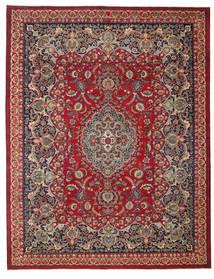 Mashad Patina Alfombra 298X382 Oriental Hecha A Mano Rojo Oscuro/Roja Grande (Lana, Persia/Irán)