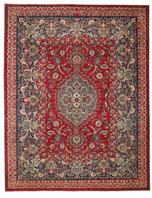 Mashad Patina Rug 298X382 Authentic  Oriental Handknotted Crimson Red/Black Large (Wool, Persia/Iran)