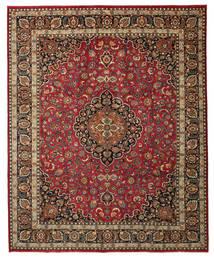 Mashad Patina Signert: Hamideh Teppe 303X376 Ekte Orientalsk Håndknyttet Mørk Rød/Mørk Brun Stort (Ull, Persia/Iran)