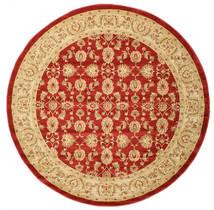 Ziegler Kaspin - Red Rug Ø 250 Oriental Round Dark Beige/Rust Red Large ( Turkey)