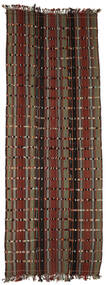 Kelim Konya Cicim Koberec 161X433 Orientální Ruční Tkaní Běhoun Hnědá/Tmavě Hnědá (Vlna, Turecko)