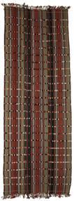 Kilim Konya Cicim Rug 161X433 Authentic  Oriental Handwoven Hallway Runner  Brown/Dark Brown (Wool, Turkey)