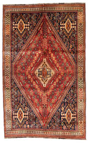 Qashqai Rug 160X258 Authentic  Oriental Handknotted Dark Red/Light Brown (Wool, Persia/Iran)