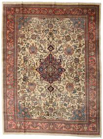 サルーク 絨毯 280X370 オリエンタル 手織り 薄茶色/濃いグレー 大きな (ウール, ペルシャ/イラン)