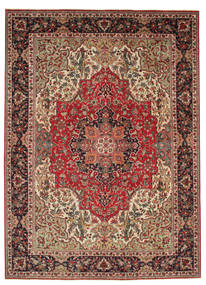 Tabriz Patina Rug 250X350 Authentic  Oriental Handknotted Dark Red/Dark Brown Large (Wool, Persia/Iran)